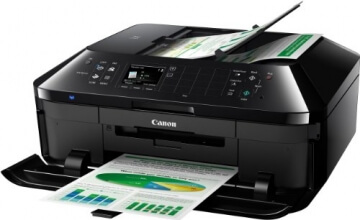 Canon Pixma MX925 All-in-One Farbtintenstrahl-Multifunktionsgerät (Drucker, Scanner, Kopierer, Fax, USB, WLAN, LAN, Apple AirPrint) schwarz - 4