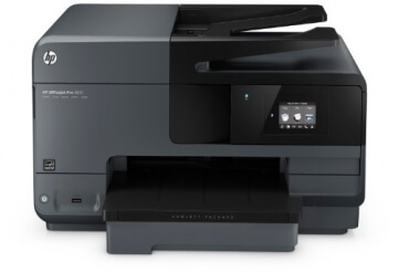 HP Officejet Pro 8610 All-in-One Multifunktionsdrucker (A4, Drucker, Kopierer, Scanner, Fax, Wlan, Duplex, USB, 4800 x 1200) schwarz - 1